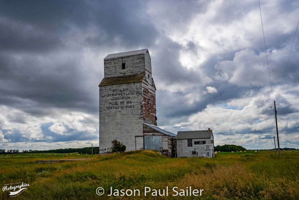 Beulah, MB grain elevator, Aug 2018. Contributed by Jason Paul Sailer.