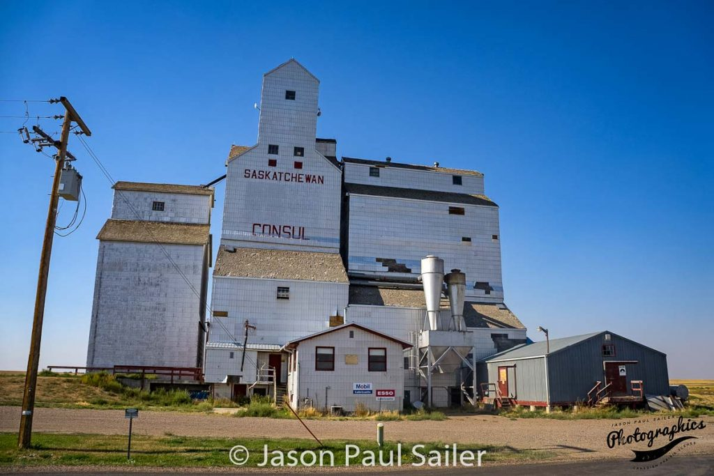 Consul, SK grain elevator, Sep 2017. Contributed by Jason Paul Sailer.