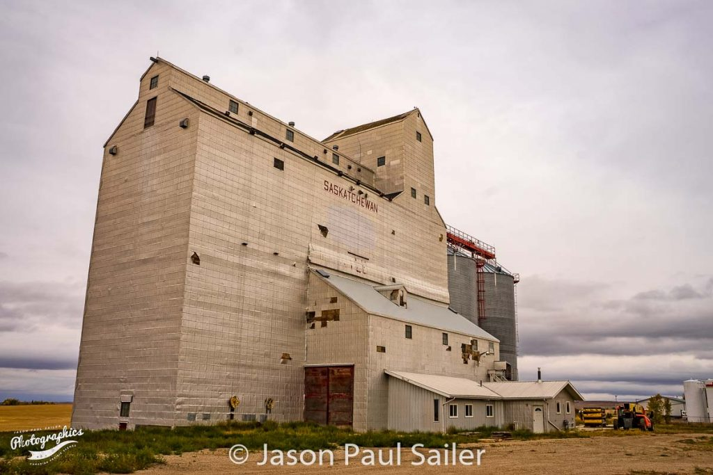 Grain elevator at Kyle, SK, Sep 2018. Contributed by Jason Paul Sailer.