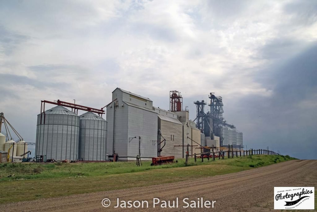 Marengo, SK grain elevator, May 2016. Contributed by Jason Paul Sailer.