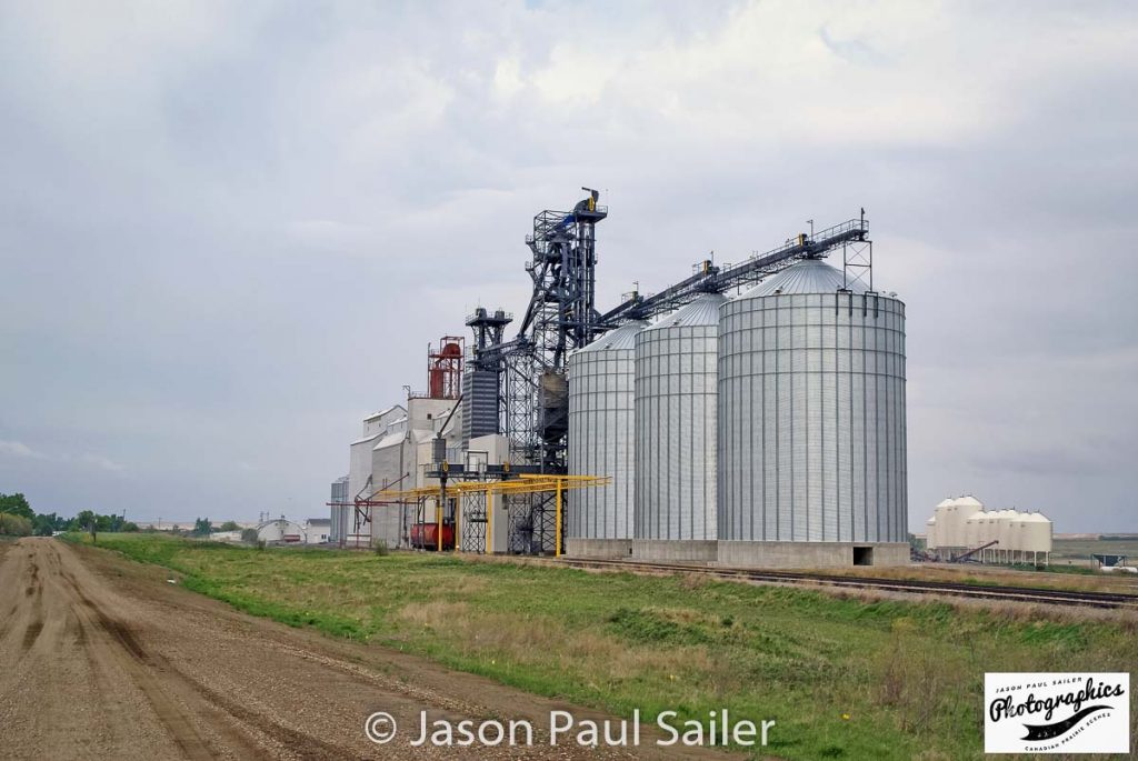 Marengo, SK grain elevator complex, May 2016. Contributed by Jason Paul Sailer.