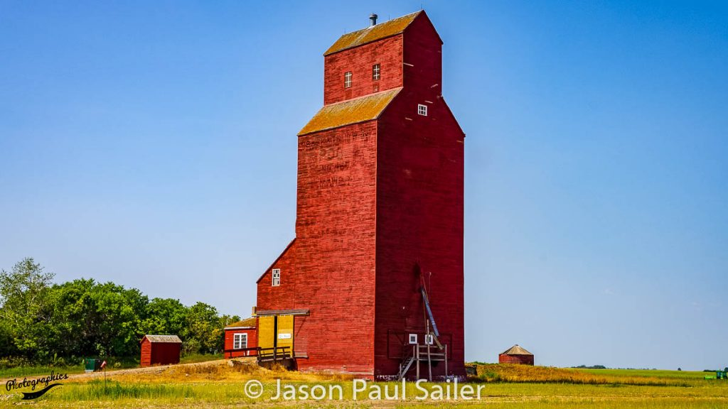 Grain elevator in Mawer, SK, Aug 2018. Contributed by Jason Paul Sailer.