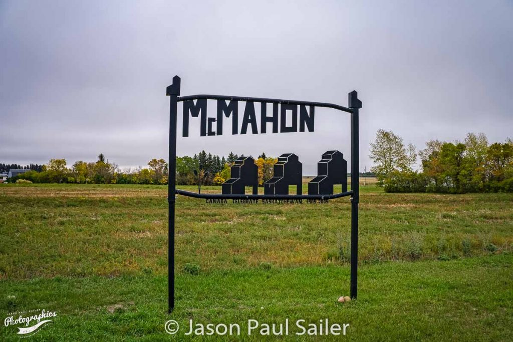 McMahon grain elevator sign, Sep 2018. Contributed by Jason Paul Sailer.