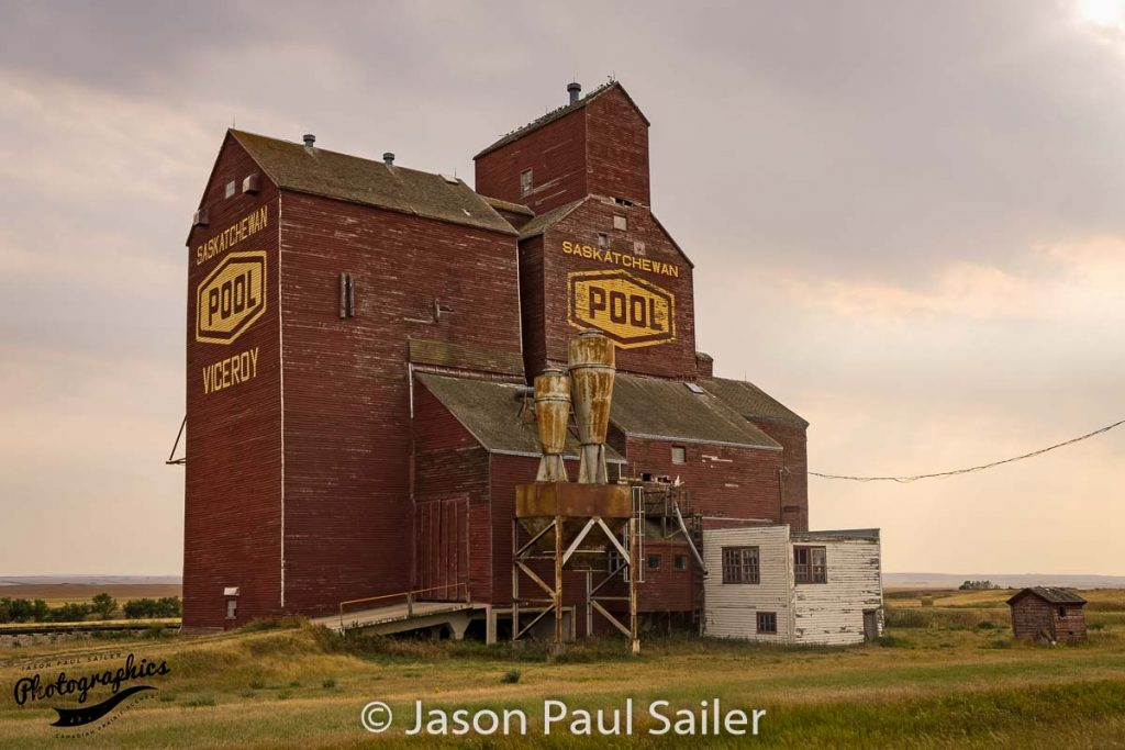 Viceroy, SK grain elevator, Sep 2017. Contributed by Jason Paul Sailer.