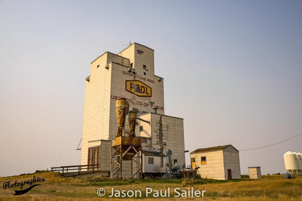 Ex Saskatchewan Wheat Pool grain elevator in Willows, SK, Sep 2017. Contributed by Jason Paul Sailer.
