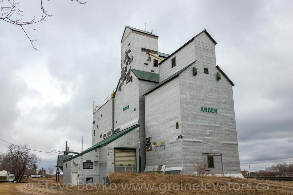 The Arden, MB grain elevator, April 2020. Contributed by Steve Boyko.