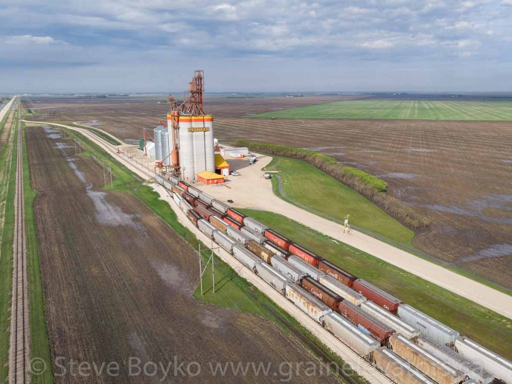 The Mollard grain elevator, May 2020. Contributed by Steve Boyko.