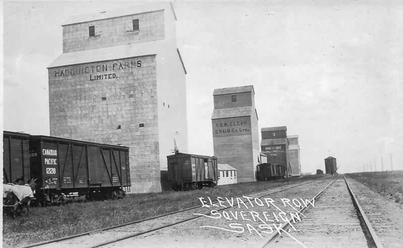 Sovereign, SK grain elevators, date unknown.