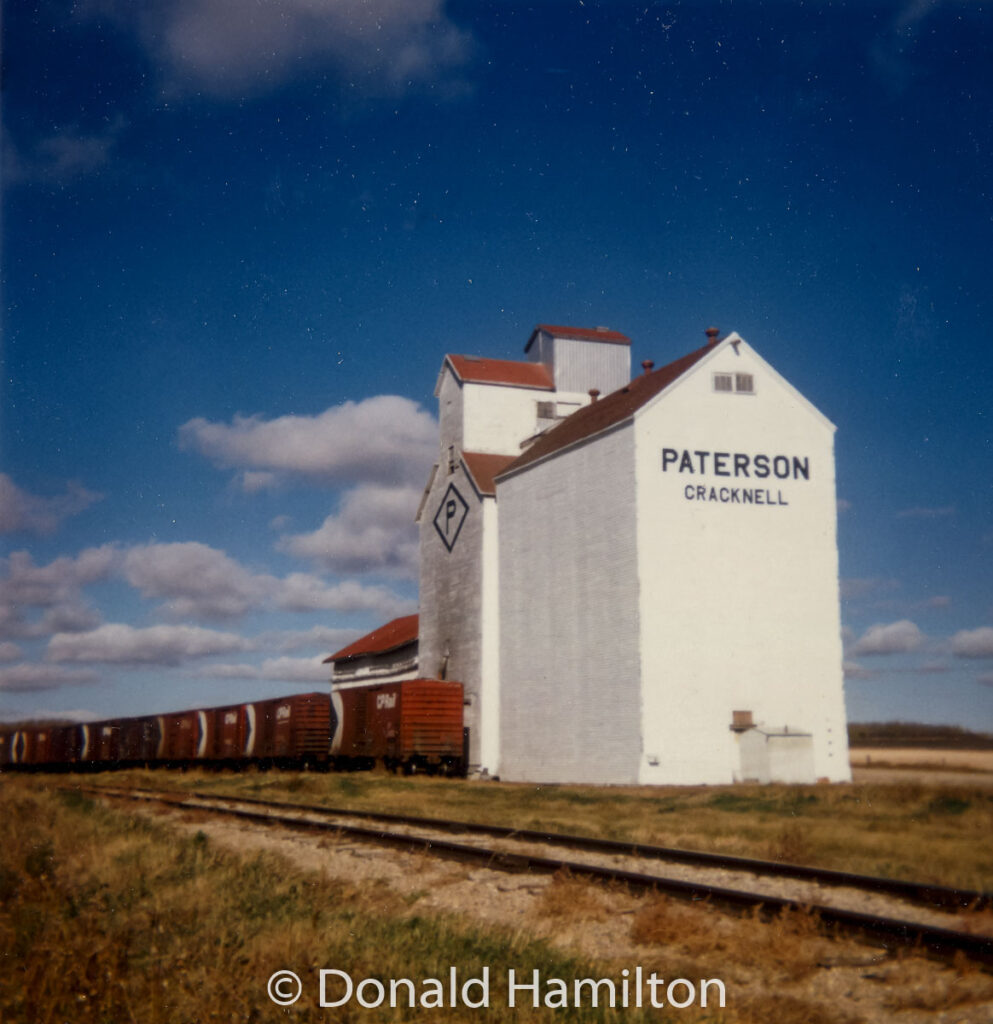 Cracknell, MB grain elevator, Oct 1990. Contributed by Donald Hamilton.