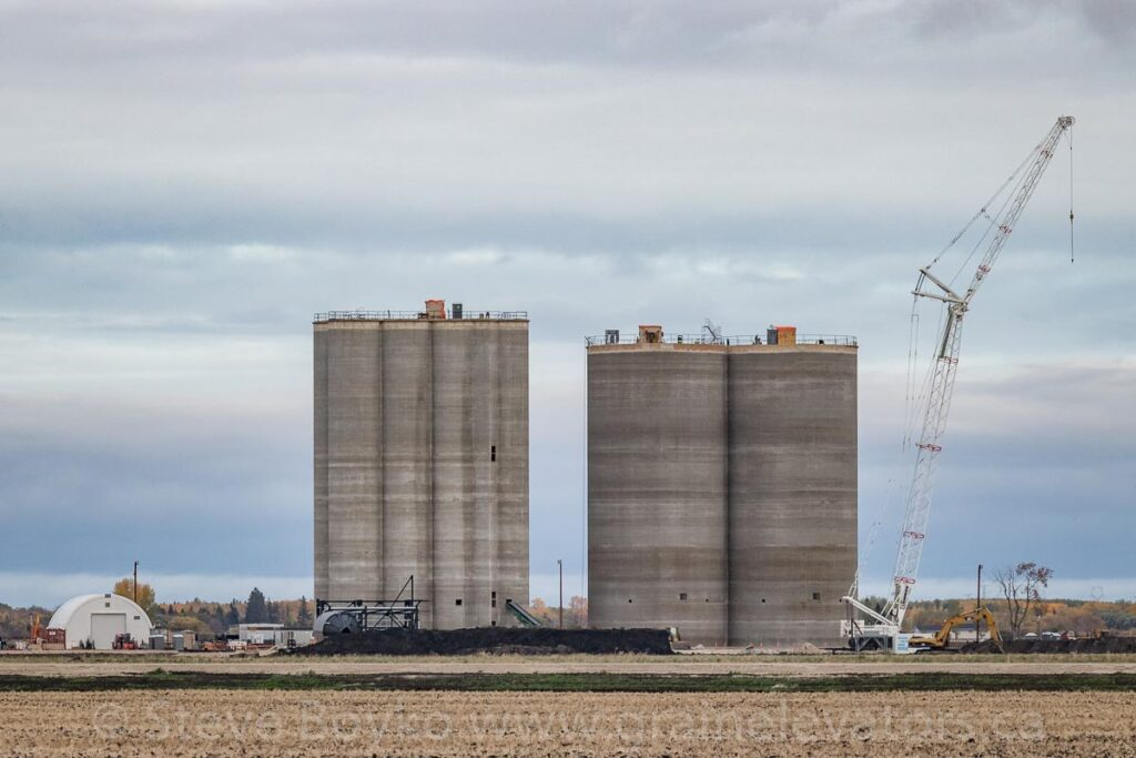 Progress on Parrish & Heimbecker grain elevator, Dugald, Sept. 28 2020