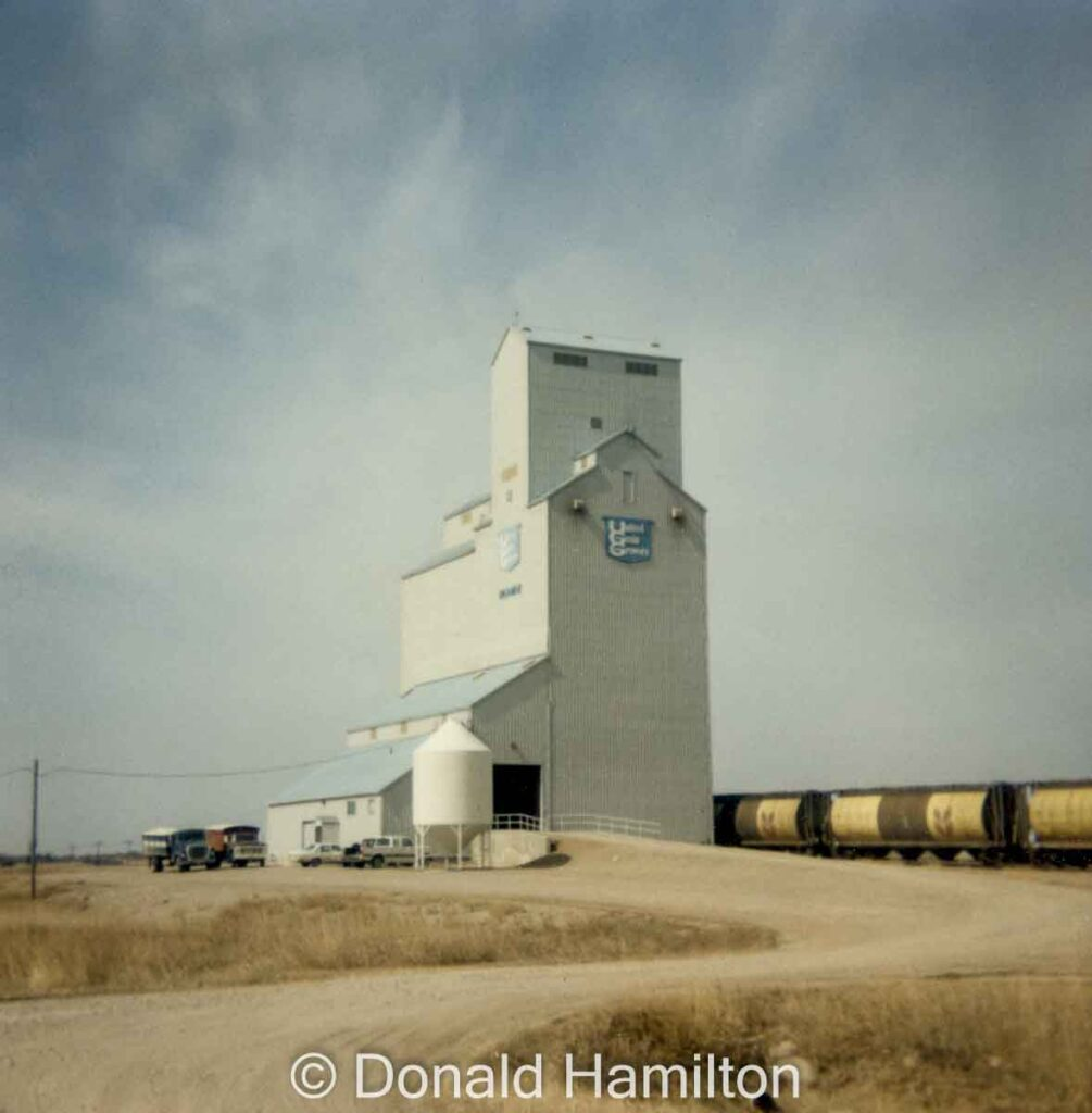 Norman UGG grain elevator, April 1991. Copyright by Donald Hamilton.