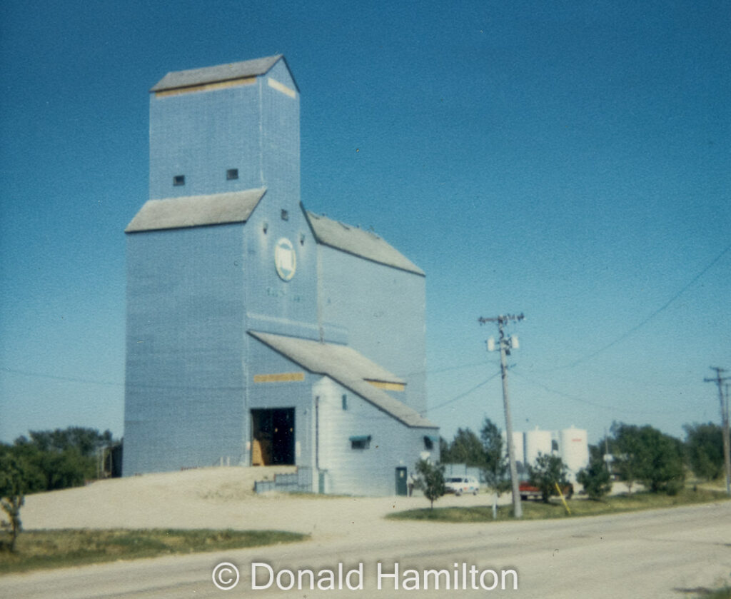 Sandy Lake grain elevator, 1989. Copyright by Donald Hamilton.