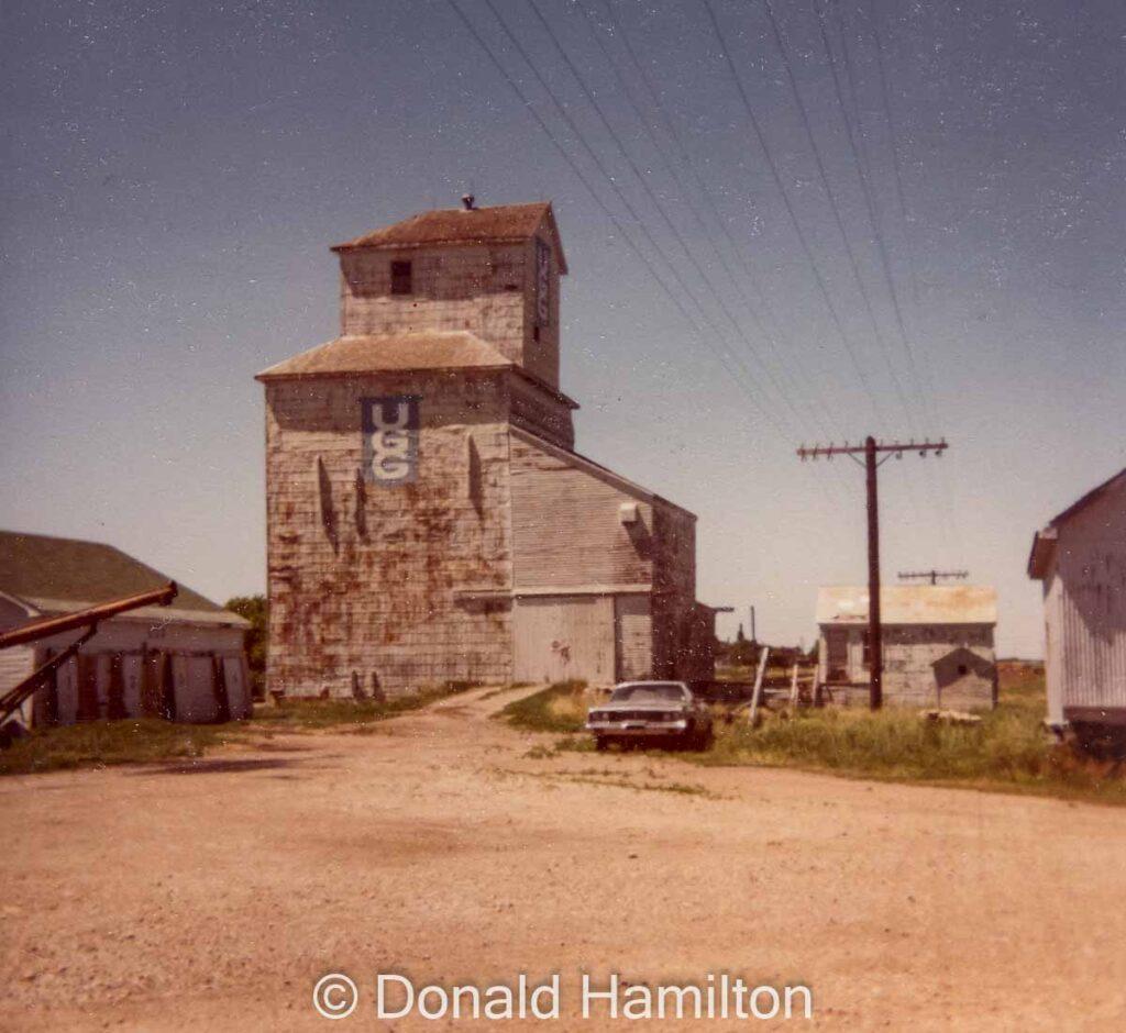 Shoal Lake UGG grain elevator, 1970. Copyright by Donald Hamilton.
