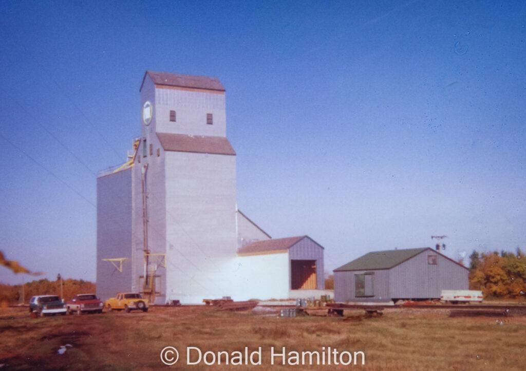 Birtle, MB grain elevator, 1993. Copyright by Donald Hamilton.