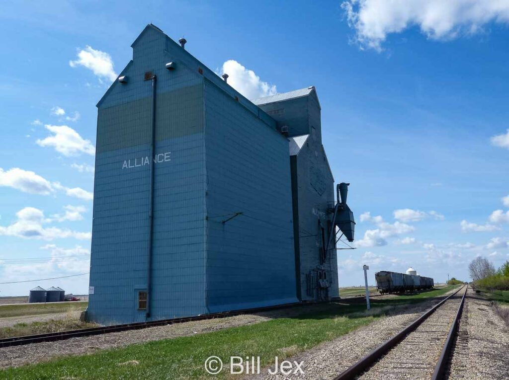 Alliance, AB grain elevator, May 2013. Contributed by Bill Jex.