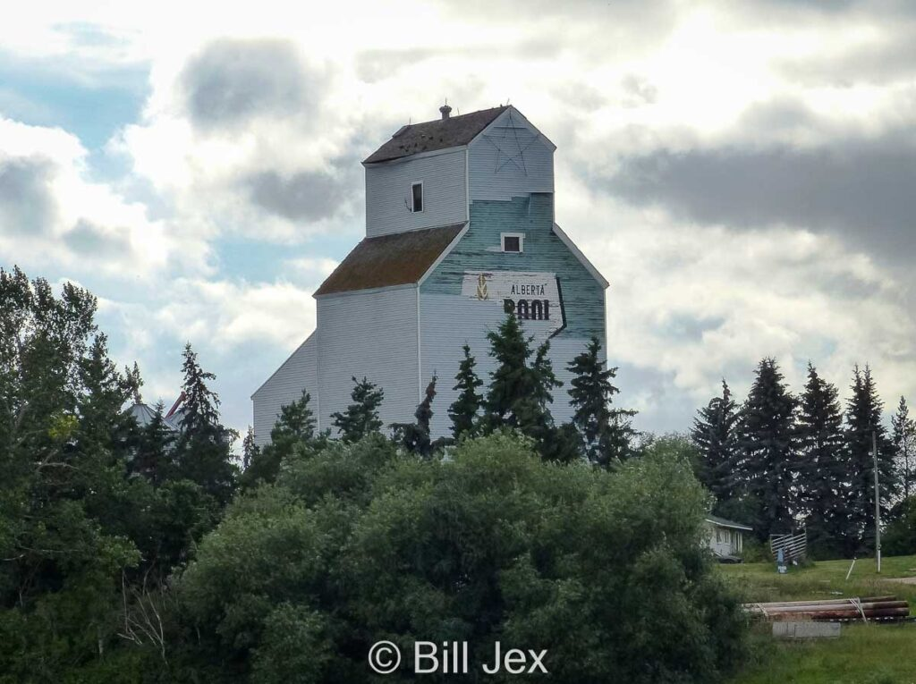 Bon Accord, AB grain elevator, Aug 2014. Contributed by Bill Jex.