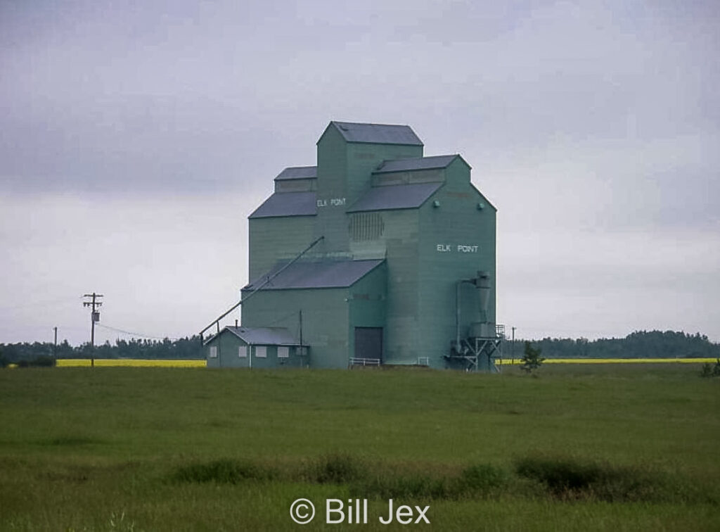 Grain elevator in Elk Point, AB, Sep 2011. Contributed by Bill Jex.