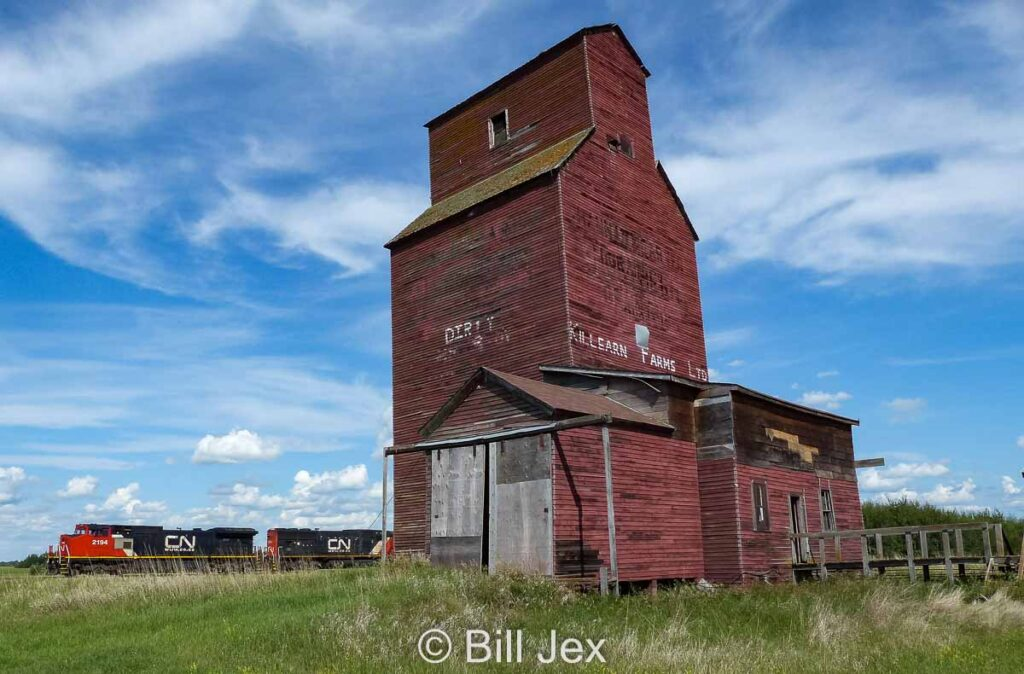 Shonts, AB grain elevator, July 2014. Contributed by Bill Jex.