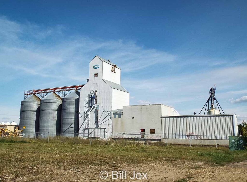 Ex UGG grain elevator in Wetaskiwin, AB, Sep 2014. Contributed by Bill Jex.