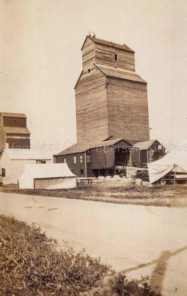 Alexander, MB grain elevator, 1927