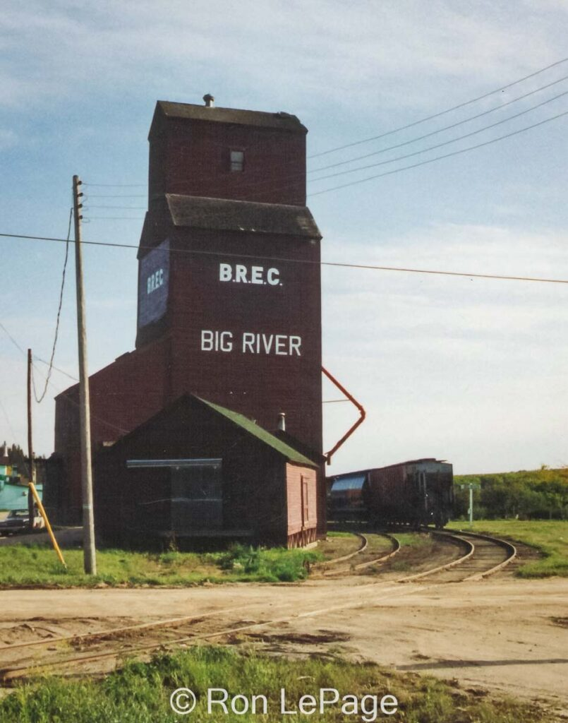 Big River, SK grain elevator, Sep 1992. Contributed by Ron LePage.