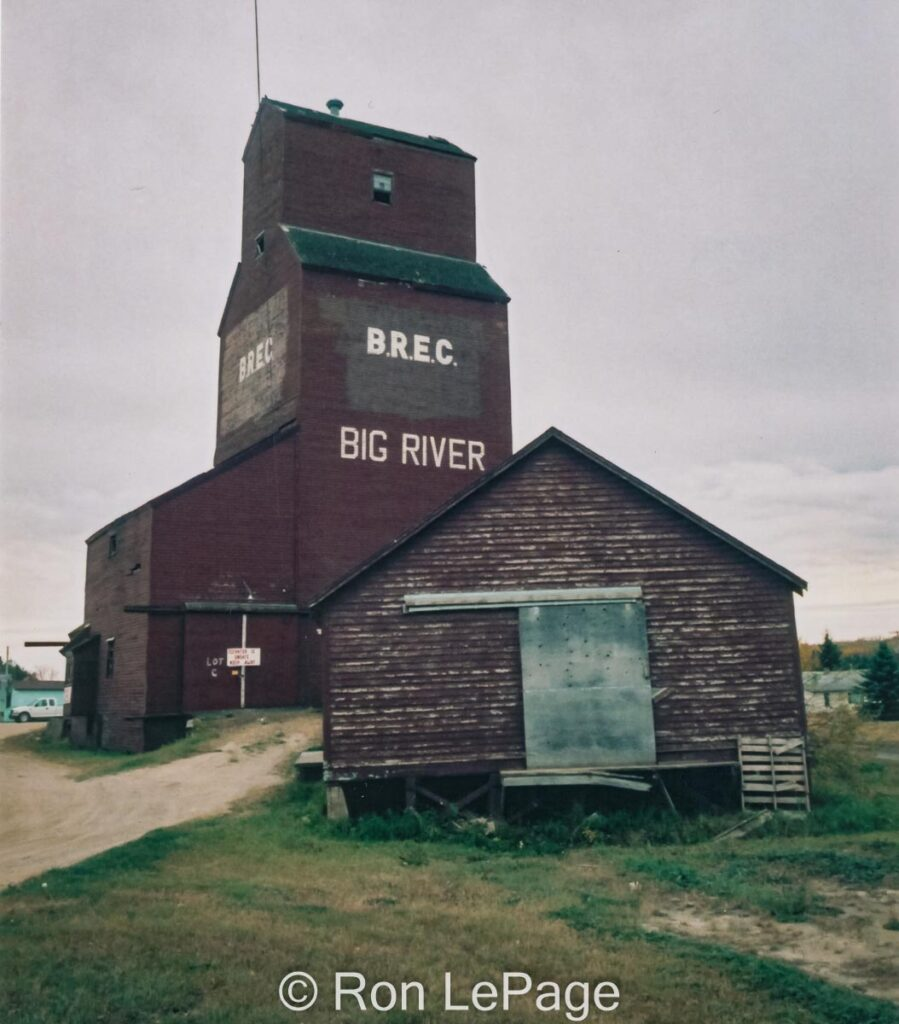 Big River, SK grain elevator, Sep 2001. Contributed by Ron LePage.