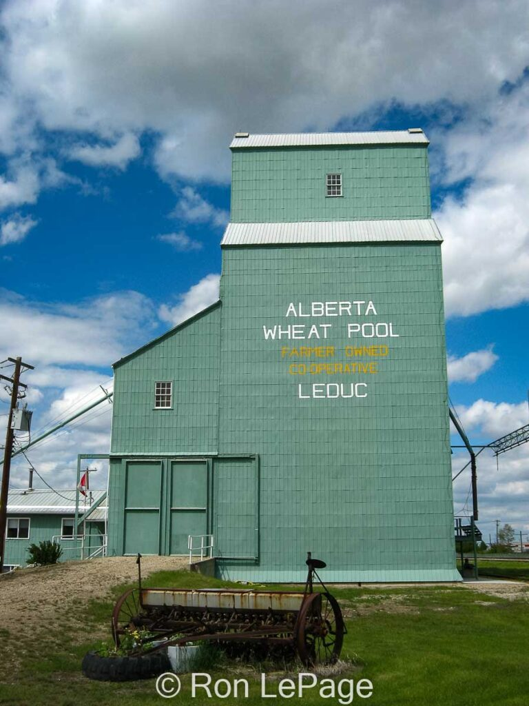 Leduc, AB grain elevator, June 2010. Contributed by Ron LePage.