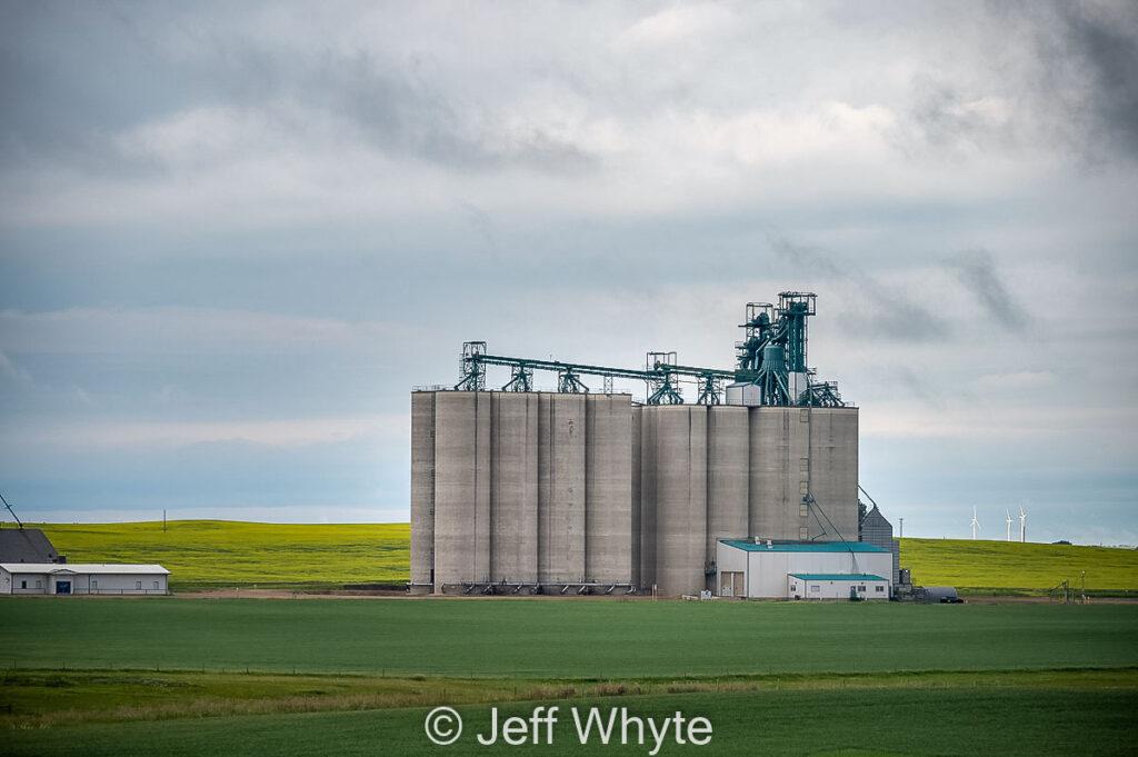 Concrete Viterra grain elevator near Trochu, July 2021. Contributed by Jeff Whyte.