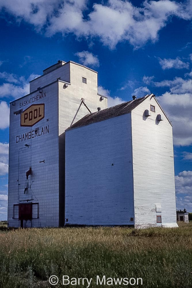 Chamberlain, SK grain elevator, contributed by Barry Mawson.